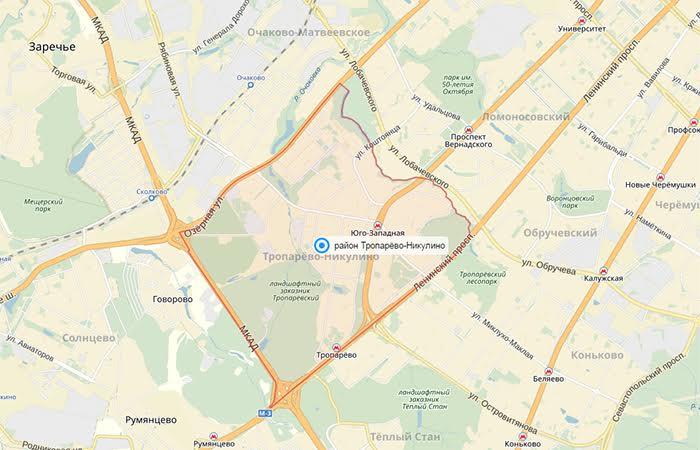 Район Тропарево-Никулино: институты, парки и долгострои