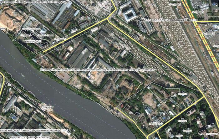 Карта района с Wikimapia.org