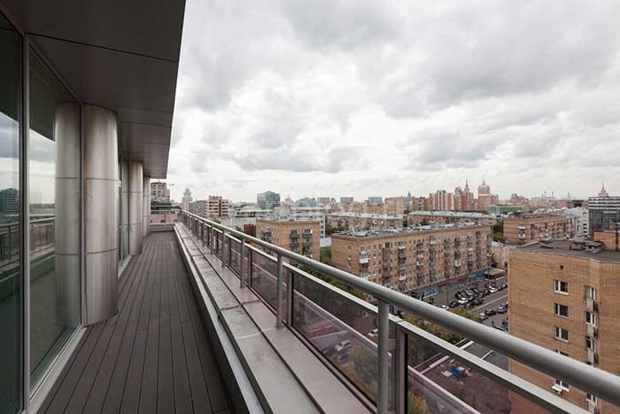 вид с балкона пентхауса
